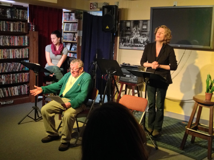 "Actors Jessica Stern, Norman Allen and Jackie Sidle in a scene from ""Cozy Beach,"" Jan. 29, 2015."