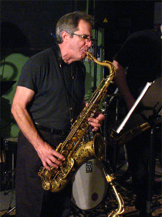 Steve Asetta, saxophonist with The Monk Project Band