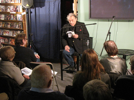 Franz Douskey reading at Best Video in 2011. Photo by Eric D. Lehman.